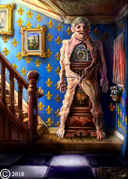 surreal macabre digital painting artwork by james olley